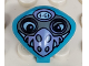 Part No: x117px10  Name: Minifigure, Head, Modified Martian with Clip, Purple Nose Face Mask Pattern
