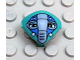 Part No: x117px3  Name: Minifigure, Head, Modified Martian with Clip, Blue Face Mask Pattern