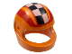 Part No: 2446px8  Name: Minifigure, Headgear Helmet Motorcycle (Standard) with Checkered Stripe and Red Stripes Pattern