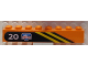 Part No: 3007pb02R  Name: Brick 2 x 8 with Diagonal Yellow Stripes, White '20' and Arctic Logo on Black Background Pattern, Model Right (Sticker) - Set 6520