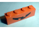 Part No: 3010pb028  Name: Brick 1 x 4 with Pumpkin Jack O' Lantern Mouth Pattern