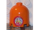 Part No: 30151apb01  Name: Brick, Round 2 x 2 x 1 2/3 Dome Top with Round Flame Pattern (Sticker) - Sets 3143 / 3148