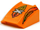 Part No: 30602pb002  Name: Slope, Curved 2 x 2 Lip with Island Xtreme Stunts Logo and Flames Pattern