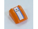 Part No: 30602pb034  Name: Slope, Curved 2 x 2 Lip with 2 Blue Stripes and 'B14' Pattern (Sticker) - Set 7737