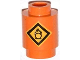 Part No: 3062bpb043  Name: Brick, Round 1 x 1 Open Stud with Fire Danger Sign Pattern