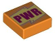 Part No: 3070bpb163  Name: Tile 1 x 1 with Groove with 'PWR' Pattern