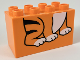 Part No: 31111pb043  Name: Duplo, Brick 2 x 4 x 2 with Tiger Feet Pattern