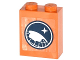 Part No: 3245cpb026  Name: Brick 1 x 2 x 2 with Inside Stud Holder with Arctic Explorer Logo Pattern (Sticker) - Set 60036