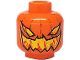 Part No: 3626bpb0277  Name: Minifigure, Head Pumpkin Jack O' Lantern Evil Pattern - Blocked Open Stud