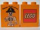 Part No: 4066pb174  Name: Duplo, Brick 1 x 2 x 2 with Halloween 2003 Happy Halloween Pattern (Lego Logo)