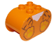 Part No: 4198pb37  Name: Duplo, Brick 2 x 4 x 2 Rounded Ends with Tiger Body Pattern