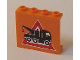 Part No: 4215bpb29  Name: Panel 1 x 4 x 3 - Hollow Studs with Tow Truck Danger Sign Pattern (Sticker) - Set 7642