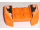 Part No: 44674pb12  Name: Vehicle, Mudguard 2 x 4 with Headlights Overhang with Orange and Black Decorative Pattern on Both Sides (Stickers) - Set 8211