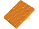 Part No: 4860c02  Name: Duplo Roofpiece Slope 30 4 x 4 Shingled with Light Yellow Base