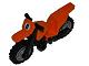 Part No: 50860c11pb02  Name: Motorcycle Dirt Bike with Black Chassis (Long Fairing Mounts) and LBG Wheels with '8' Pattern (Sticker) - Set 4433