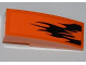 Part No: 50950pb036L  Name: Slope, Curved 3 x 1 with Black Flames Pattern Model Left (Sticker) - Set 7971