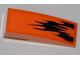 Part No: 50950pb036R  Name: Slope, Curved 3 x 1 with Black Flames Pattern Model Right (Sticker) - Set 7971