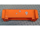Part No: 52041pb006  Name: Crane Section 4 x 12 x 3 with 8 Pin Holes with 4 Bullet Holes Pattern (Stickers) - Set 7709