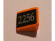 Part No: 54200pb021R  Name: Slope 30 1 x 1 x 2/3 with Silver '2256' on Black Pattern Model Right (Sticker) - Set 10133