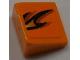 Part No: 54200pb029L  Name: Slope 30 1 x 1 x 2/3 with Flames Pattern Model Left Side (Sticker) - Set 8186