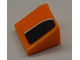 Part No: 54200pb035R  Name: Slope 30 1 x 1 x 2/3 with White Line on Orange and Black Pattern Model Right (Sticker) - Set 8125