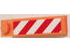 Part No: 60477pb004R  Name: Slope 18 4 x 1 with Red and White Danger Stripes Pattern Model Right Side (Sticker) - Set 60083