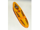 Part No: 6075pb01  Name: Minifigure, Utensil Surfboard Long with Island Xtreme Stunts Logo Pattern (Stickers)