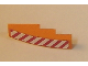 Part No: 61678pb003L  Name: Slope, Curved 4 x 1 with Red and White Danger Stripes Pattern Left Side (Sticker) - Set 7642