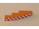 Part No: 61678pb003R  Name: Slope, Curved 4 x 1 with Red and White Danger Stripes Pattern Right Side (Sticker) - Set 7642