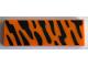 Part No: 63864pb079  Name: Tile 1 x 3 with Black Wildcat Stripes Pattern