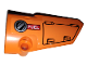 Part No: 64391pb045  Name: Technic, Panel Fairing # 4 Small Smooth Long, Side B with Hatch and Fuel Filler Cap on Orange Background Pattern (Sticker) - Set 42038