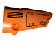 Part No: 64391pb046  Name: Technic, Panel Fairing # 4 Small Smooth Long, Side B with Hatch and Grille on Orange Background Pattern (Sticker) - Set 42038