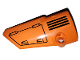 Part No: 64683pb046  Name: Technic, Panel Fairing # 3 Small Smooth Long, Side A with Hatch and Grille on Orange Background Pattern (Sticker) - Set 42038