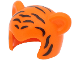 Part No: 65590pb02  Name: Minifigure, Headgear Head Cover, Costume Mask Cat with Black Tiger Stripes Pattern (BAM)