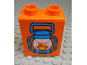 Part No: 76371pb019  Name: Duplo, Brick 1 x 2 x 2 with Bottom Tube with Blue Lantern with Flame Pattern