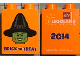 Part No: 76371pb133  Name: Duplo, Brick 1 x 2 x 2 with Bottom Tube with Legoland Florida 2014 Brick or Treat Pattern