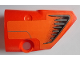 Part No: 87086pb049  Name: Technic, Panel Fairing # 2 Small Smooth Short, Side B with Black and Dark Bluish Gray Vents on Orange Background Pattern (Sticker) - Set 9398