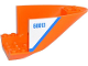 Part No: 87616pb005  Name: Aircraft Fuselage Curved Aft Section 6 x 10 Bottom with Blue Line and '60013' on White Background Pattern on Both Sides (Stickers) - Set 60013
