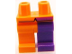 Part No: 970d14pb01  Name: Minifigure, Legs with Hips - 1 Dark Purple Left Leg, 1 Orange Right Leg, Coattails Pattern