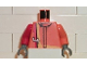 Part No: 973pb0212c01  Name: Torso Racers Number 4 with Red and Yellow Stripe Pattern / Orange Arm Left / Red Arm Right / Dark Gray Hands