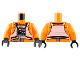 Part No: 973pb0624c01  Name: Torso SW Rebel Pilot with Printed Back Pattern / Orange Arms / Black Hands