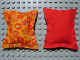Part No: x22pb03  Name: Scala Cloth Pillow Large with Multicolor Circles Pattern, Reverses to Solid Red