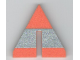 Part No: x606pb01  Name: Foam, Racers, Cone Triangle Upright with Silver Stripe 6 x 6 with Bottom Cutout