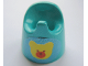 Part No: 33050pb03  Name: Scala Baby Potty with Teddy Bear Head Pattern (Sticker) - Set 3152