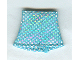 Part No: 47689  Name: Belville, Clothes Skirt Short, A-Line with Silver Faux Sequins (5942)