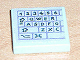 Part No: 3068bpb0133L  Name: Tile 2 x 2 with Groove with Computer Keyboard Left Pattern (Sticker) - Set 3142