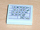 Part No: 3068bpb0133R  Name: Tile 2 x 2 with Groove with Computer Keyboard Right Pattern (Sticker) - Set 3142