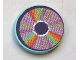 Part No: 4150pb061  Name: Tile, Round 2 x 2 with CD Pastel Sectors Pattern (Sticker) - Set 3142