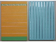 Part No: 6892pb02c02  Name: Scala Wall, Vertical Grooved 18 x 2 x 22 2/3, with Orange and Green Stripes Pattern