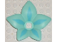 Part No: clikits142pb01  Name: Clikits Icon Accent, Plastic Flower 6 x 6 x 2/3 with Sky Blue Highlights Pattern